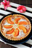 Peach tart Royalty Free Stock Photography