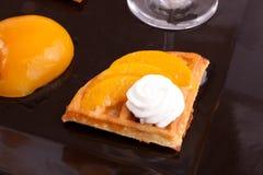 Peach Tart Slices Royalty Free Stock Image