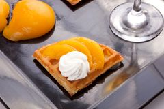 Peach Tart Slices Royalty Free Stock Photography