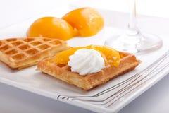 Peach Tart Slices Royalty Free Stock Photos