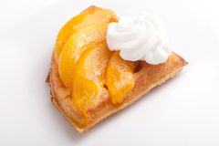 Peach Tart Slices Royalty Free Stock Images
