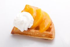 Peach Tart Slices Royalty Free Stock Photos