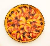Baked Peach Tart Stock Image