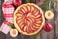 Peach tart Stock Image