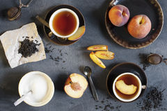 Peach tea Stock Image