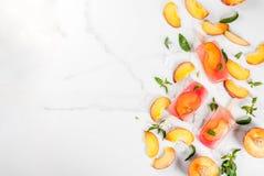 Peach tea popsicles Royalty Free Stock Photo
