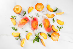 Peach tea popsicles Royalty Free Stock Images