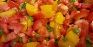 Peach Tomato Gazpacho Royalty Free Stock Photo