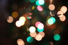 Peach and Turquoise lights blurred Royalty Free Stock Photos