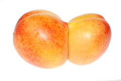 Peach twins Stock Photo