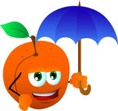 Peach with umbrella Royalty Free Stock Images