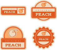 Peach Vintage Food Labels Royalty Free Stock Photography
