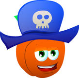 Peach wearing pirate hat Royalty Free Stock Photo