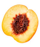 Peach on white Stock Image