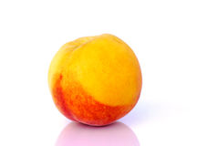 Peach before white background Stock Photo