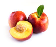 Peach on a white background Stock Photography