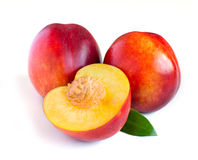 Peach on a white background Royalty Free Stock Photos