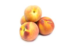 Peach on white background Stock Photography