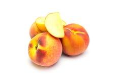Peach on white background Stock Photo