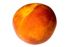 Peach on a white background Royalty Free Stock Image