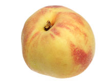 Peach on a white background Royalty Free Stock Photos