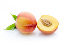 Peach on the white isolatd background. Royalty Free Stock Images