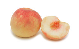 Peach 'white swan', isolated Stock Images