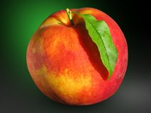 Free Peach With Leaf Stock Images - 1677674