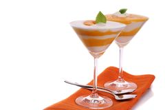 Peach Yoghurt Royalty Free Stock Photo