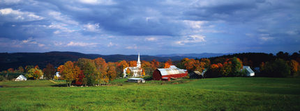 Peacham, VT in fall Stock Image