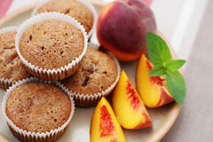 Peache's muffin Royalty Free Stock Image