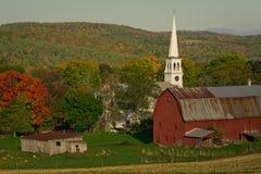 Peachem Vermont in de herfst stock afbeelding