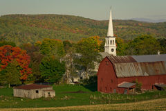 Peachem vermont in the fall stock image