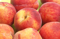 Peaches. Fresh fruits: red riped peaches Stock Photos