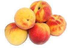 Peaches. Sweet peaches isolated on white Stock Image