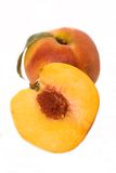 Peaches. Two peaches against white background Royalty Free Stock Images