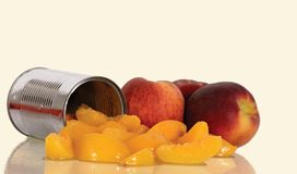 Peaches. Health Food, Peach, Fruit, Canned, Ripe, Whole, Prepared, Preserve stock images