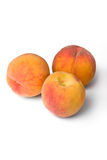 Peaches. Isolated on white background Stock Images
