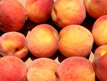 Peaches. Detail photo texture of the peaches background Royalty Free Stock Images