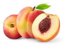 Isolated nectarine peaches stock images