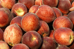 Peaches. The background of fresh peaches Royalty Free Stock Photography
