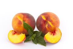 Peaches. Several fresh vine peaches placed for exhibition Royalty Free Stock Image
