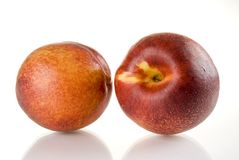 Peaches. Fresh colored peaches close up Royalty Free Stock Photo