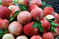 Peaches. Red peaches look fresh and nice Royalty Free Stock Images