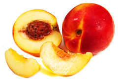 Peaches. On a white background Stock Image