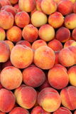Peaches. Bunch of peaches on a market Stock Photo