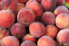 Peaches. Crop of ripe peaches. Macro Royalty Free Stock Photos