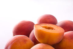 Peaches. Two peaches isolated on white Royalty Free Stock Image