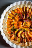 Peaches and apricots tart Royalty Free Stock Photos