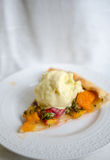 Peaches and apricots tart Stock Photo